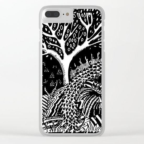 The woods are lovely, dark and deep Clear iPhone Case