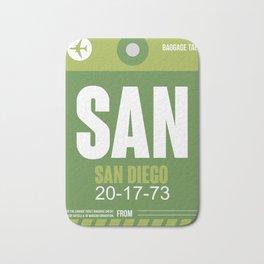 SAN San Diego Luggage Tag 2 Bath Mat