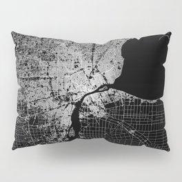 Detroit map  Pillow Sham