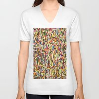 mexico V-neck T-shirts featuring Mexico by Jose Luis