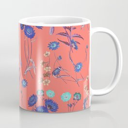 Living Coral Floral Pattern.Color of year 2019 Coffee Mug