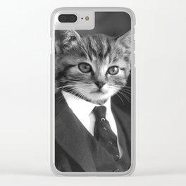 Gentleman Cat Clear iPhone Case