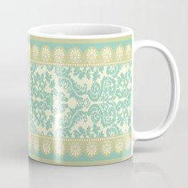 Ornamental Renaissance Border Design Acqua  Coffee Mug