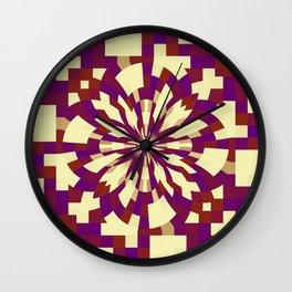 Raster kaleidoscope n° 5 Wall Clock