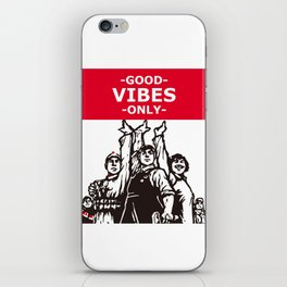 Good vibes Chinese style print art iPhone Skin