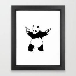 Panda, Banksy, Graffitti Framed Art Print