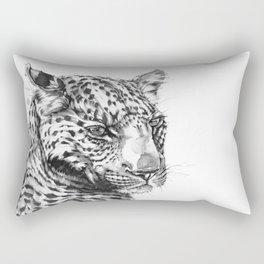 Leopard (Black & White) Rectangular Pillow