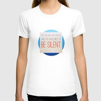 silent T-shirts featuring SILENT by Peter Gross