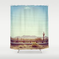 desert Shower Curtains featuring Desert by Whitney Retter