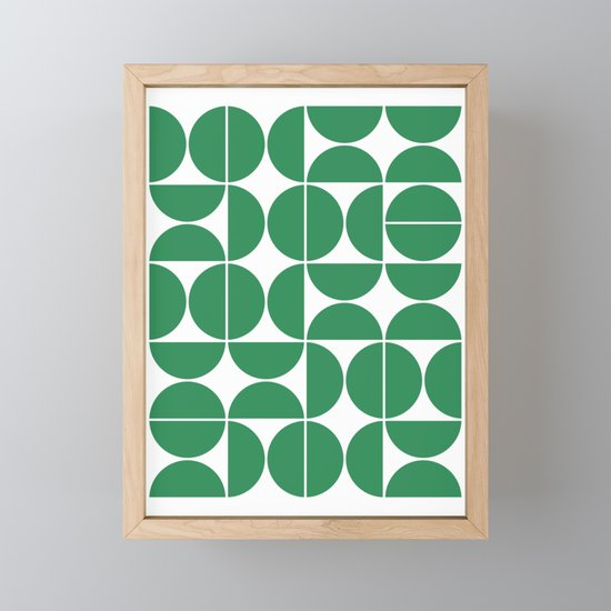 Mid Century Modern Geometric 04 Green by theoldartstudio