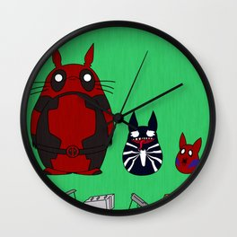 My Neighbor Deadpool Wall Clock