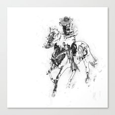 Man and horse Canvas Print