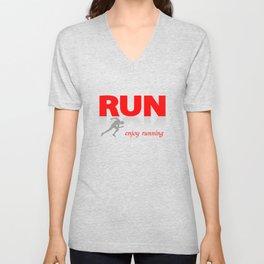 Enjoy running Unisex V-Neck
