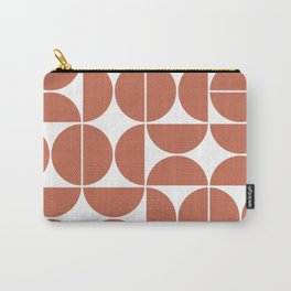 Mid Century Modern Geometric 04 Terracotta Carry-All Pouch