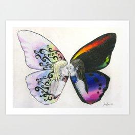 Rainbow Virgin  Art Print