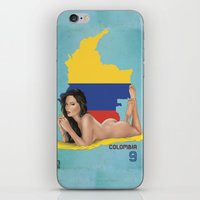 colombia iPhone & iPod Skins featuring Colombia by Kingdom Of Calm - Print On Demand