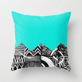 Sky lino bright Throw Pillow