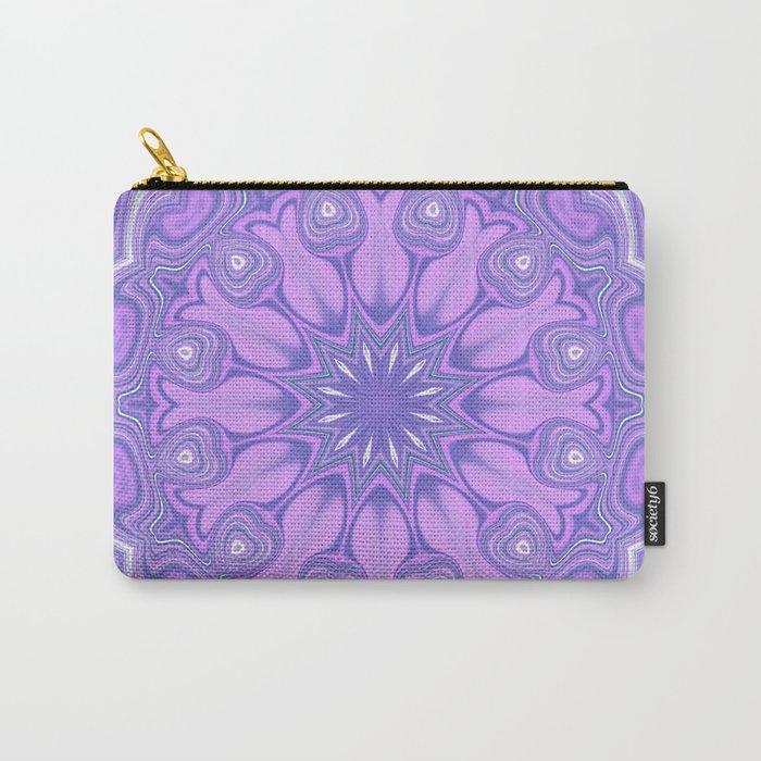 Purple Kaleidoscope Carry-All Pouch