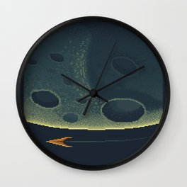 MERCURY Space Tourism Travel Poster Wall Clock