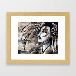 Geisha in Steam: The Hopefull Concubine Framed Art Print
