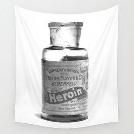 Vintage Heroin Medicine Bottle Wall Tapestry