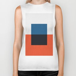 Blue and red composition XXI Biker Tank