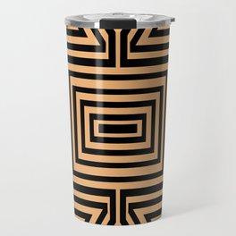 African Geometric Tribal Pattern 2 Travel Mug