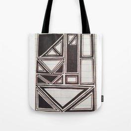 Squares Squared  Tote Bag