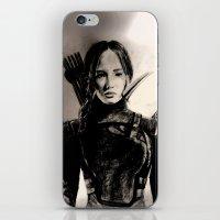 mockingjay iPhone & iPod Skins featuring MOCKINGJAY by shochat