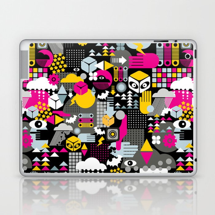 Abstract. Laptop & iPad Skin