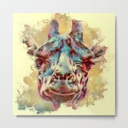 Painterly Animal - Giraffe 2 Metal Print