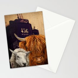 Sheep Cow 123 Stationery Cards