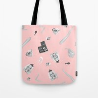 barbie Tote Bags featuring Barbie Doll by Wizard No Heart
