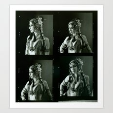 Old Contact Sheet of Rachel Brice 2 Art Print
