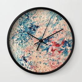 Abstract Pastel Paint Wall Clock