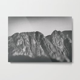 Giewont mountains Tatry #tatry #blackandwhite #photo Metal Print