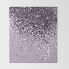 Sparkling Lavender Lady Glitter #2 #shiny #decor #art #society6 Throw Blanket