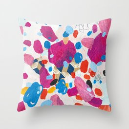 Fuchsia Physics Throw Pillow