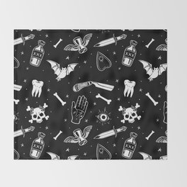 A Few Macabre Things Throw Blanket