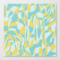 camo Canvas Prints featuring Camo by Deborah Gruber