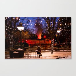 Steamy Winter Canvas Print