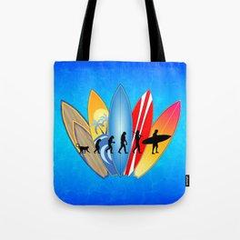 Surfing Evolution Tote Bag
