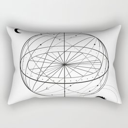 Alchemy symbol with eye, moon, sun Rectangular Pillow