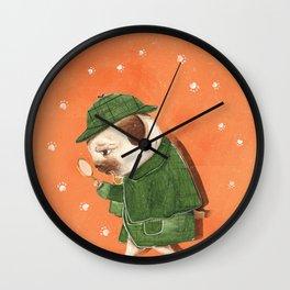 Sherpug Bolmes Wall Clock