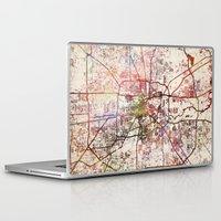 houston Laptop & iPad Skins featuring Houston by MapMapMaps.Watercolors