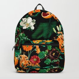 Fruit and Floral Pattern Backpack
