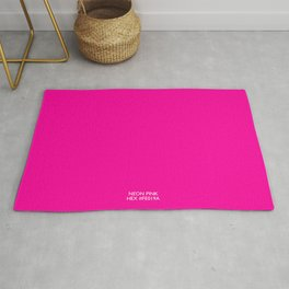 Neon Pink Hex fe019a Rug