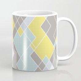 Yellow & Gray Geometric Pattern Coffee Mug