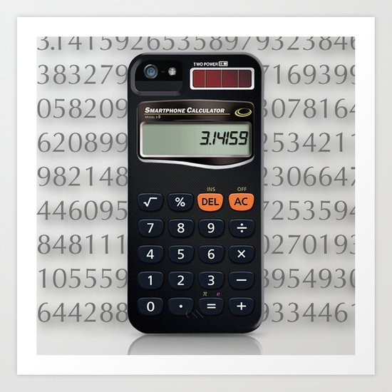 Smartphone Calculator Art Print