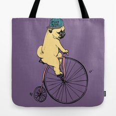 Pug Ride Tote Bag